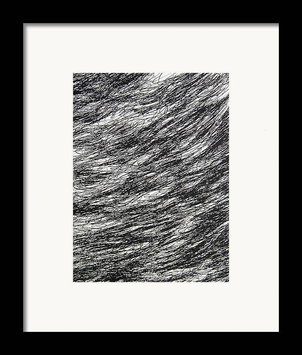 Landscape Framed Print featuring the drawing Movement by Uwe Schein