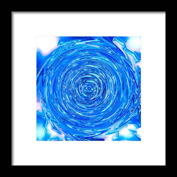 Moveonart! Digital Gallery Framed Print featuring the digital art MoveOnArt Peace Renewal Planet Earth by Jacob Kanduch