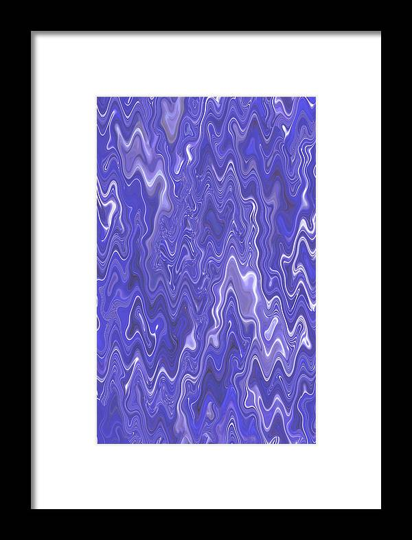 Moveonart! Digital Gallery Framed Print featuring the digital art Moveonart Peaceful Interactive Visual Therapy 2 by Jacob Kanduch
