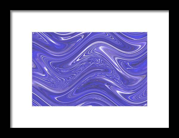 Moveonart! Digital Gallery Framed Print featuring the digital art MoveOnArt Waves Of Blue For You 1 by Jacob Kanduch