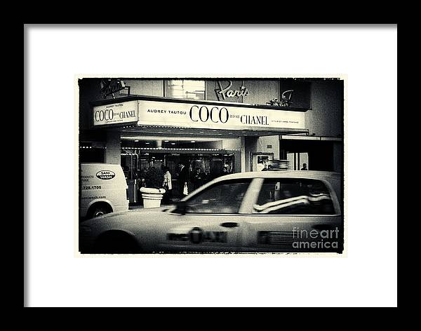Filmnoir Framed Print featuring the photograph Movie Theatre Paris In New York City by Sabine Jacobs