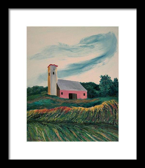 Moving Field Framed Print featuring the painting Moving Field by Richard Beauregard