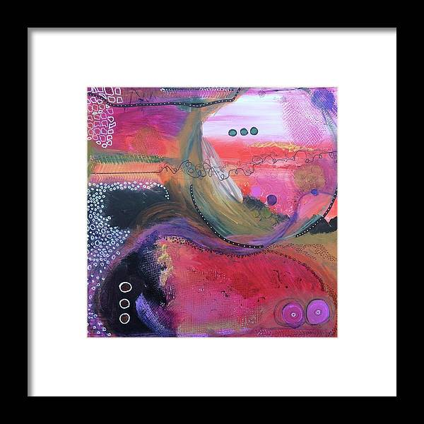 Acrylic Paint Framed Print featuring the mixed media Moving Universe by Eloise Taesali
