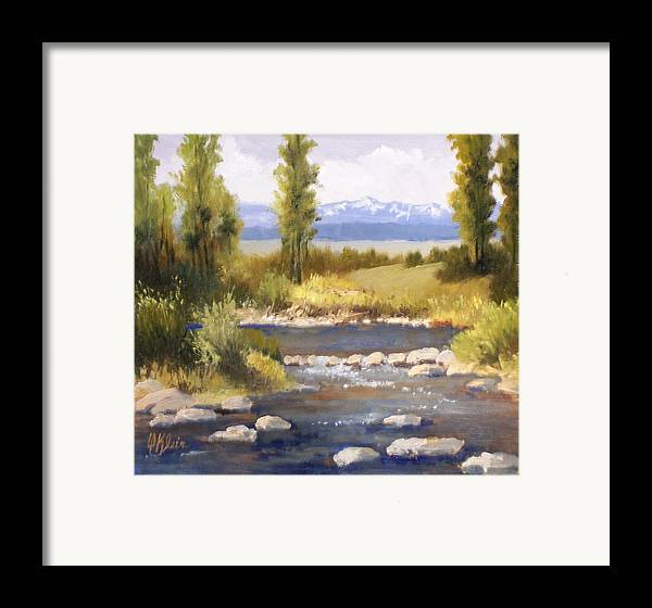 Landscape Framed Print featuring the painting Moyie River by Dalas Klein