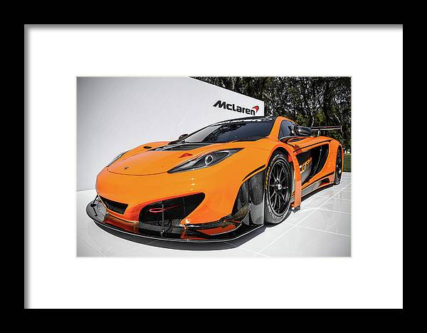 Mclaren Framed Print featuring the photograph MP4 by Bradley Dever