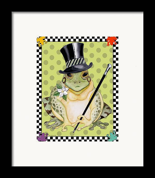 Animals Framed Print featuring the print Mr. Beau Frog by Kay Robinson