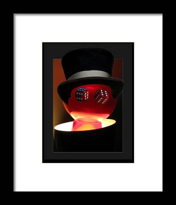 Luck Framed Print featuring the digital art Mr. Chance by Darryl Kravitz