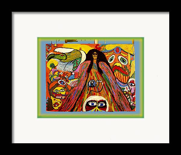 Framed Print featuring the painting Mr. Howard Stern by Betty Roberts