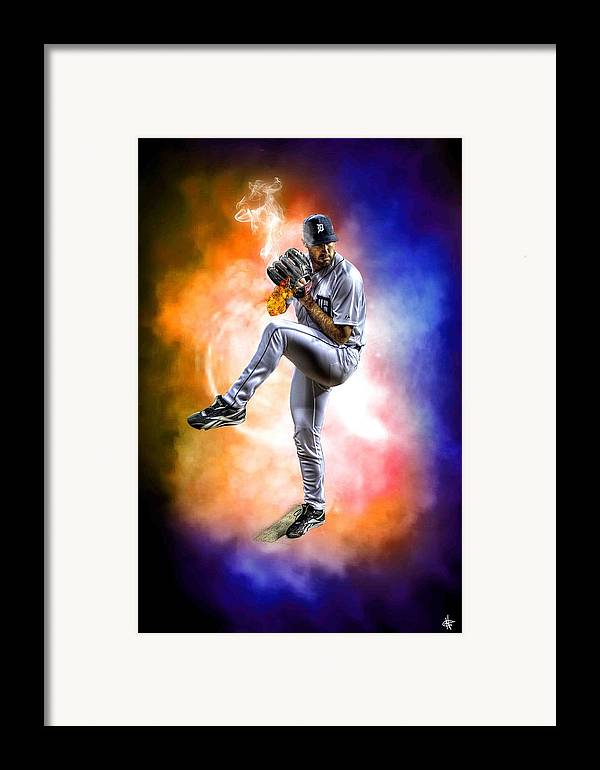 Cy Young Framed Print featuring the photograph Mr. Justin Verlander by Nicholas Grunas
