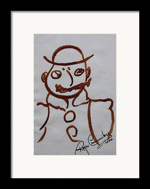 James Joyce Ulysses Framed Print featuring the painting Mr Leopold Bloom by Roger Cummiskey
