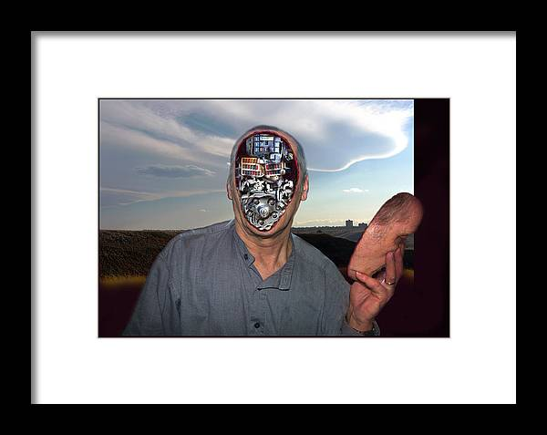 Surrealism Framed Print featuring the digital art Mr. Robot-otto by Otto Rapp