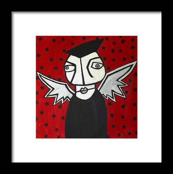 Clay Framed Print featuring the painting Mr.creepy by Thomas Valentine