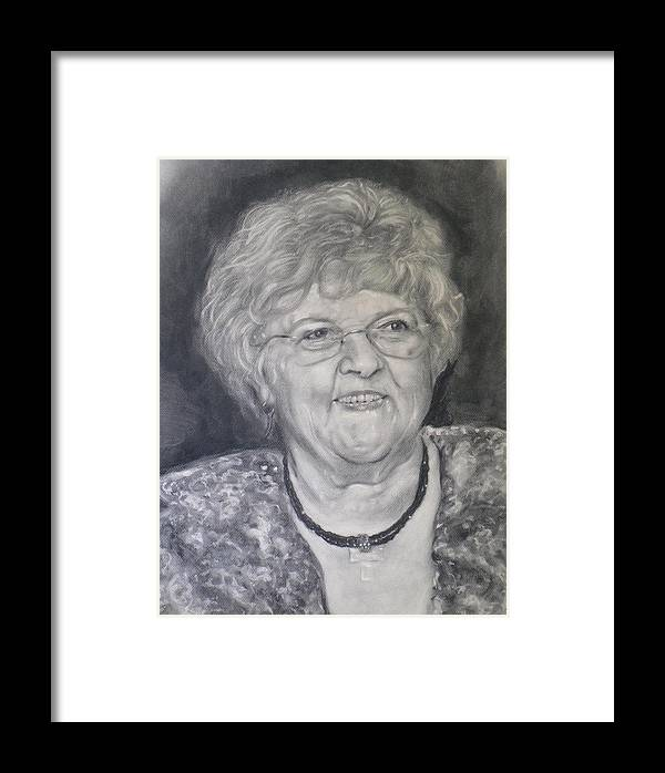 Carol Paul Framed Print featuring the painting Mrs. Carol Paul by Adrienne Martino