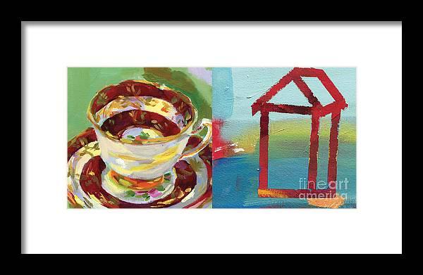 Mrs. Pattersons Tea Cups Framed Print featuring the painting Mrs Patterson S Tea Cup 4559 by C'est La Viv