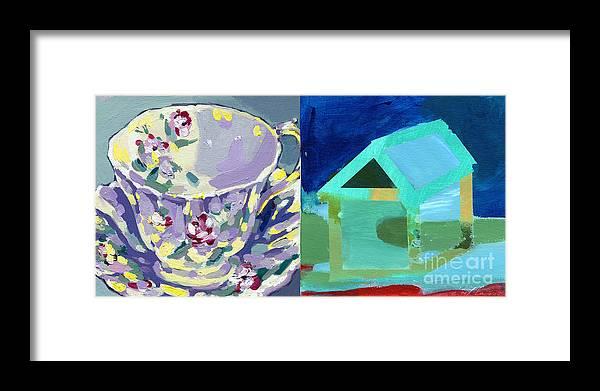Mrs. Pattersons Tea Cups Framed Print featuring the painting Mrs Patterson S Tea Cup 6246 by C'est La Viv