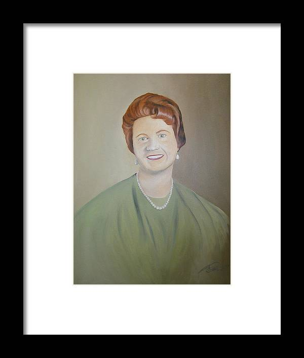 Portrait Framed Print featuring the painting Ms. Bryant by Angelo Thomas