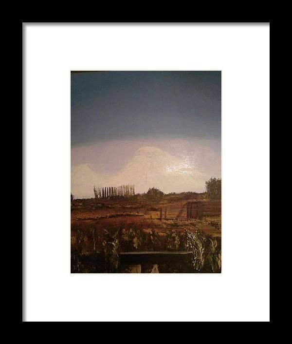 Ararat Framed Print featuring the painting Mt. Ararat by Bonnie Davis