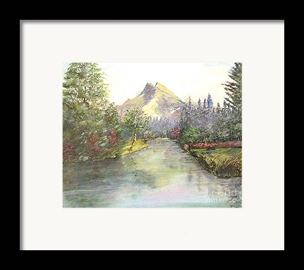 Landscape Painting Framed Print featuring the painting Mt Bundle by Nicholas Minniti