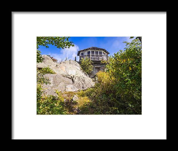 Great Smoky Mountains Framed Print featuring the photograph Mt. Cammerer Observation Tower by Bob Carr