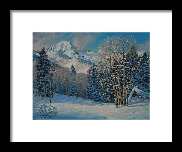 Landscape Framed Print featuring the painting Mt. Daly by Lanny Grant