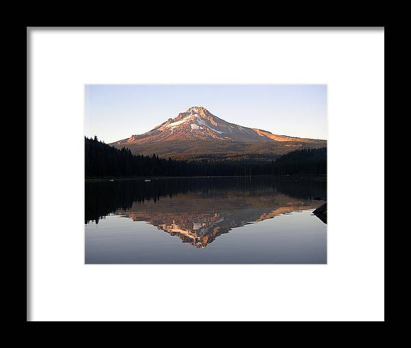 Nature Framed Print featuring the photograph Mt Hood by Eric Workman