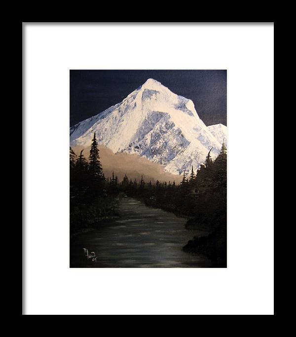 Landscape Framed Print featuring the painting Mt Hood by Mark Farr