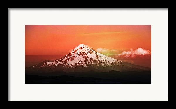 Mt Hood Framed Print featuring the photograph Mt Hood Oregon Sunset by Aaron Berg
