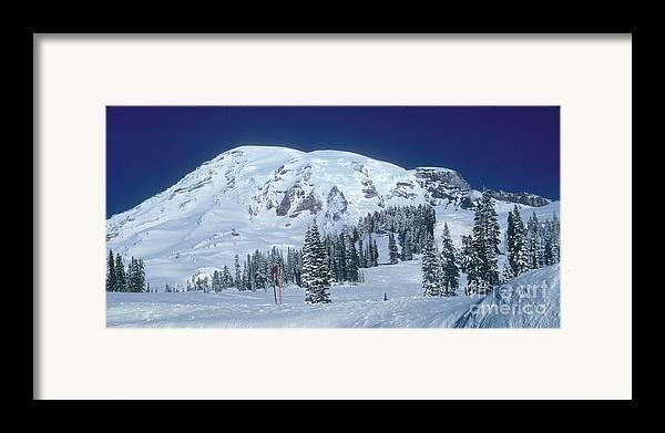 Mt. Rainier Framed Print featuring the photograph Mt. Rainier by Larry Keahey