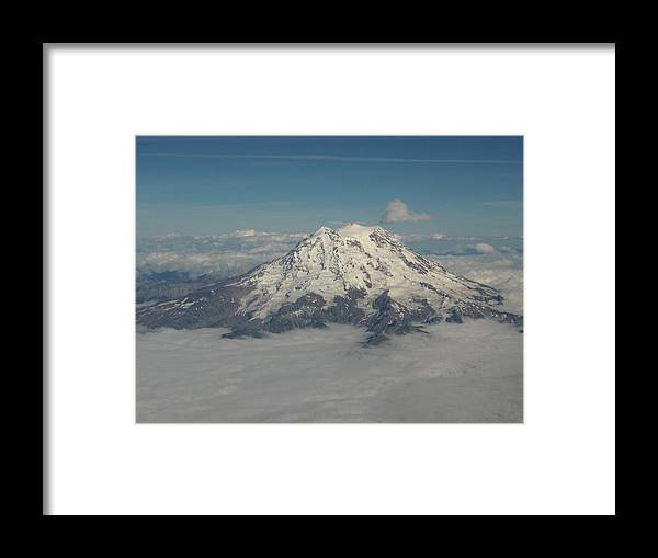 Mountain Framed Print featuring the photograph Mt Ranier by Janet Hall