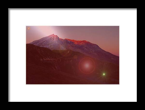 Mountains Framed Print featuring the photograph Mt St Helens by Jeff Swan