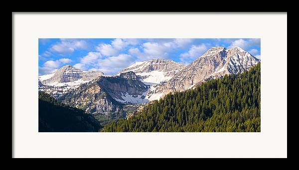 Scenery Framed Print featuring the photograph Mt. Timpanogos In The Wasatch Mountains Of Utah by Utah Images