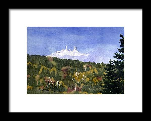 Landscape Framed Print featuring the painting Almost Mystical by Sharon E Allen