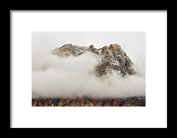 Red Rock National Conservation Area Framed Print featuring the photograph Mt. Wilson 2 by Steven Wilson