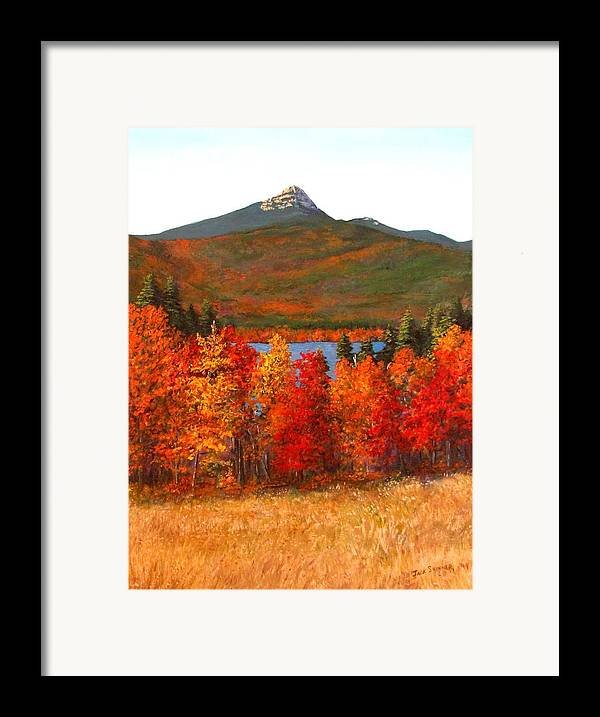 Mt Chocorua Framed Print featuring the painting Mt.chocorua by Jack Skinner