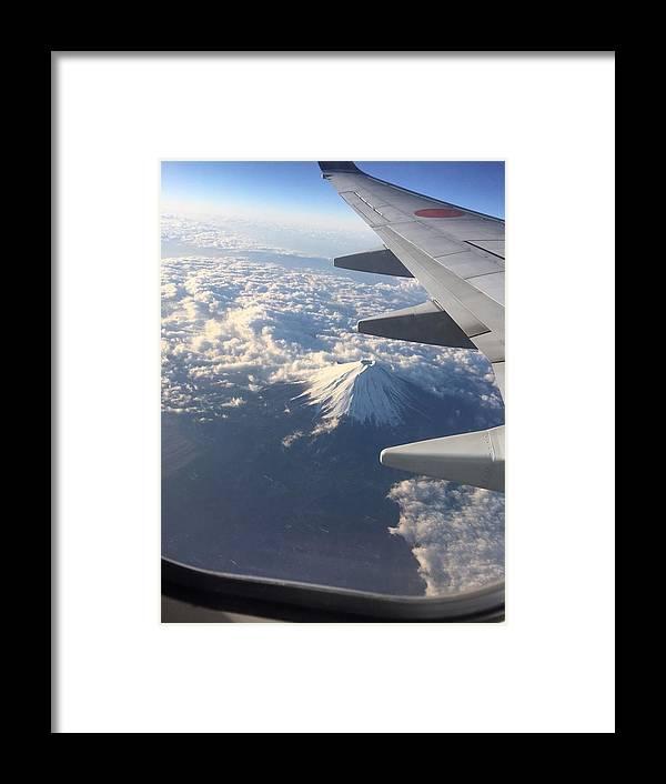 Mt. Fuji Framed Print featuring the photograph Mt.fuji by Hitomi Yamauchi