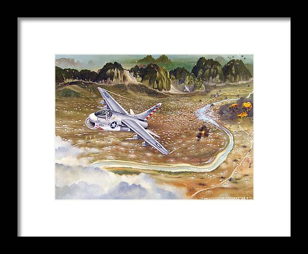 Aviation Framed Print featuring the painting Mu Gia Mayhem by Marc Stewart