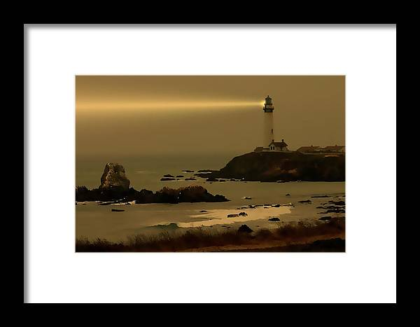 Lighthouse Framed Print featuring the photograph Much Needed Light by Barbara Black