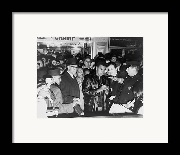 History Framed Print featuring the photograph Muhammad Ali Cassius Clay Defeated by Everett
