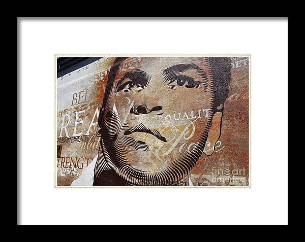 Celebrity Framed Print featuring the photograph Muhammad Ali Mural by Fitzroy Barrett