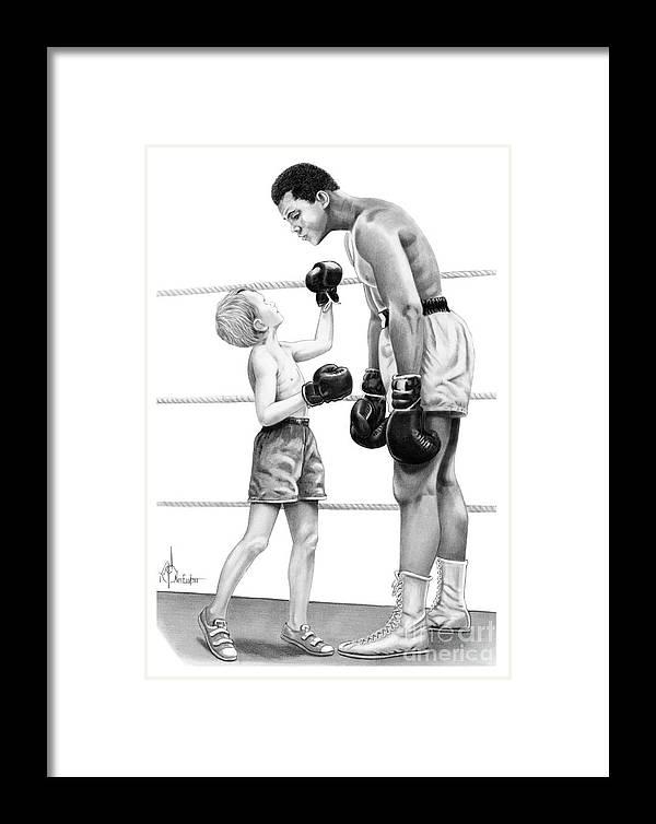 Muhammad Ali Framed Print by Murphy Elliott