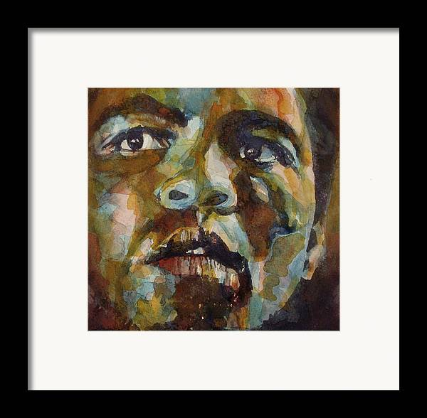 America Framed Print featuring the painting Muhammad Ali  by Paul Lovering