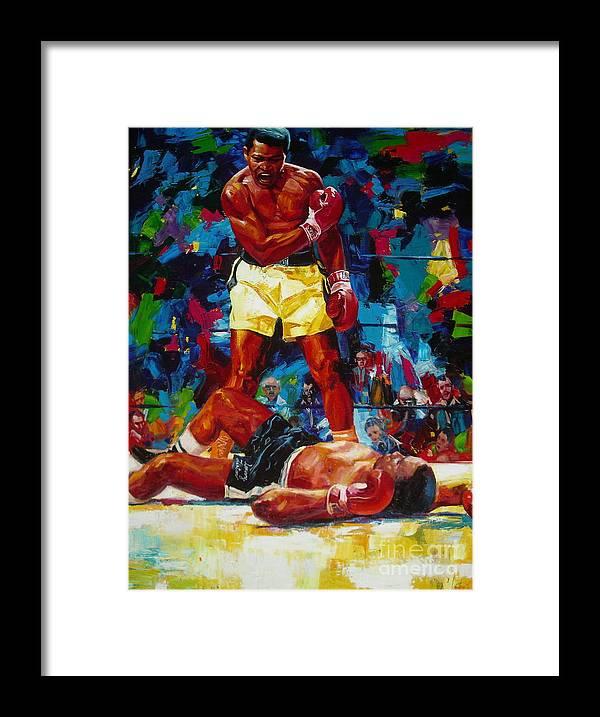 Ignatenko Framed Print featuring the painting Muhammad Ali by Sergey Ignatenko