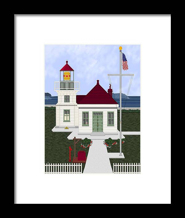 Lighthouse Framed Print featuring the painting Mukilteo Light by Anne Norskog