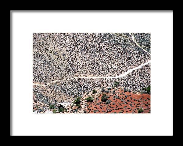 Grand Canyon Framed Print featuring the photograph Mule Train On Grand Canyon Bottom by Jeanette Oberholtzer