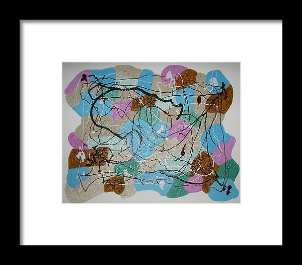 Symbolism Framed Print featuring the painting Multi-colour by Harris Gulko