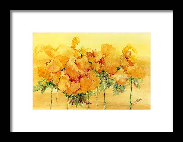 Flowers Framed Print featuring the painting Multiple Choice by Priscilla Powers