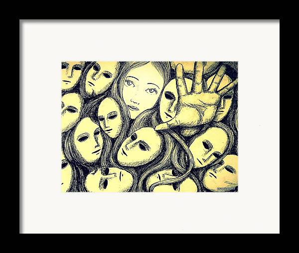 Multiple Personalities Framed Print featuring the digital art Multiple Personalities by Paulo Zerbato
