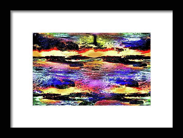 World's Framed Print featuring the digital art Multiple Underwater Sunsets by Ron Fleishman
