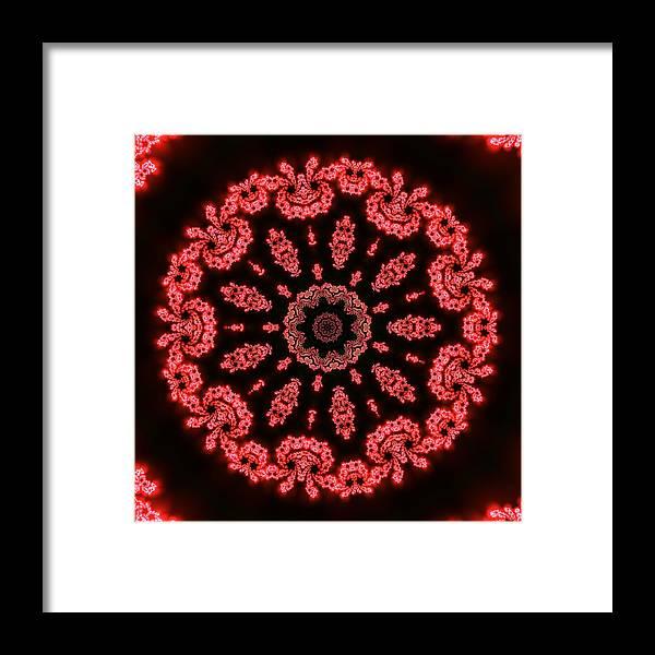 Mandala Framed Print featuring the digital art Muluc 9 by Robert Thalmeier