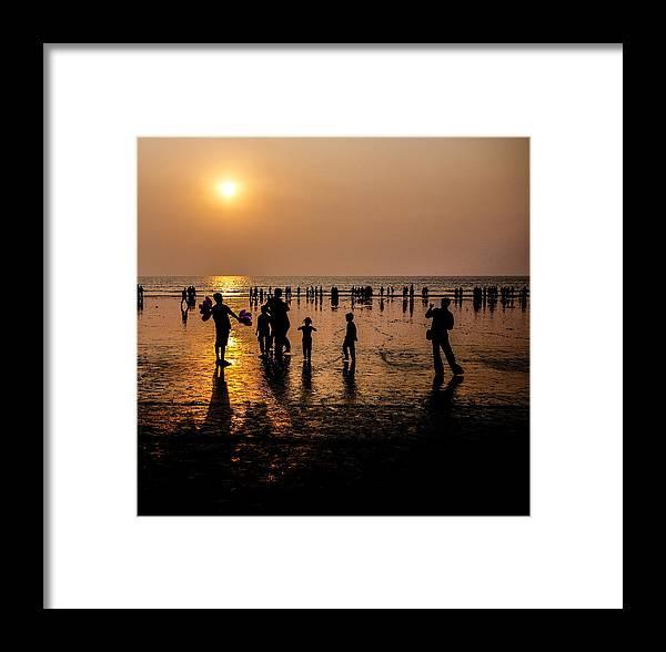 Mumbai Framed Print featuring the photograph Mumbai Sunset by M G Whittingham